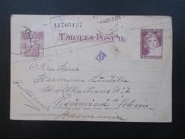 Spanien 1937 Suinnbilder Der Republik GA P 90 Mit Zensur Nach Neuwied. Bürgerkrieg / Spanische Zensur / Censura - 1931-50 Briefe U. Dokumente