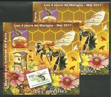 Blocs Marigny 2017 Les Abeilles - Sheetlets