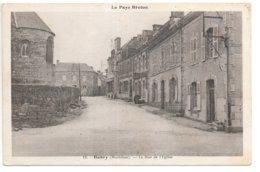 Cpa...Bubry....(morbihan)...la Rue De L'église...1940... - Autres Communes