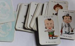 Années 40 Ancien Et Beau Jeu Des 7 Familles J. W. Spear And Sons Happy Families Les Métiers Caricature Card Game - Oud Speelgoed