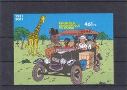 Bandes Dessinées - Tintin - République Du Congo - BF Avec Surcharge Expo Changai 2010 ** - NON Dentelé - Comics