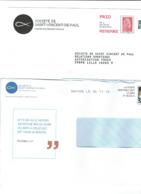 POSTREPONSE Société De Saint Vincent De Paul N°204721 +pseudo Entier - Postal Stamped Stationery