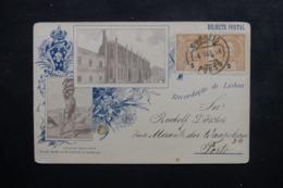 PORTUGAL - Affranchissement Plaisant De Porto Sur Carte Postale De Lisbonne Pour Porto En 1896 - L 46465 - Lettres & Documents
