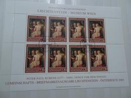 Liechtenstein Michel 1374 Gestempelt Kleinbogen Gemälde (5697) - Blocks & Kleinbögen
