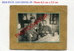 HOUPLIN ANCOISNE-Petite PHOTO Allemande Sur Carton-Guerre 14-18-1WK-Frankreich-France-59- - France