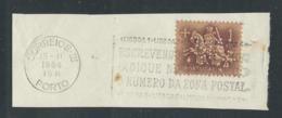 Fragmento Com Flâmula Publicitária E Selo Perfin - Poststempel - Freistempel