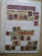 Deutsches Reich Dienst Dublettenposten Viele Briefstücke (9590) - Sammlungen