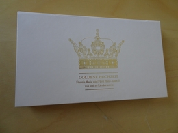 Liechtenstein 2017 Block 29 B Ungezähnt Goldene Hochzeit, Auflage Nur 1250 Stück (10594) - Liechtenstein
