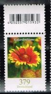 Bund 2018, Michel# 3399 R ** Blumen: Kokardenblume Mit EAN-Code - Unused Stamps