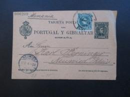 Spanien 1906 Ganzsache P 36 II F / Frageteil Mit Zusatzfrankatur Bilbao Nach Neuwied - Briefe U. Dokumente