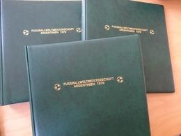 3 Lindner Binder Grün Mit Aufdruck Fussball WM 1978 (11651) - Album & Raccoglitori