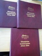 3 Lindner Binder Rot Mit Aufdruck Olympia 2004 (11650) - Album & Raccoglitori