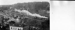 TOULOUSE: Superbe Photo, Support Cartonné 14x9 Cm- Rare ClichéLe Train Sur Le Pont D'Empalot,en 1925(voir Verso),détails - Toulouse