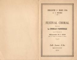 Programme Festival Choral  - Meudon - Dimanche 1er Mars 1936 - Programs
