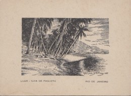 Brésil - Luar Ilha De Paqueta Rio De Janeiro - Carte 2 Volets - Illustrateur - Rio De Janeiro