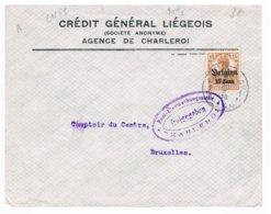 OC 15 Charleroy 1 Sur Lettre 1916 Censuurbrief Freigegeben Post Uberwachungsstelle Charleroi - WW I