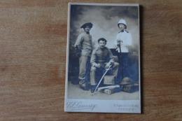 Photo Départ Pour Les Colonies Ou La Chine Vers 1900   Tenues Coloniales - Guerra, Militares
