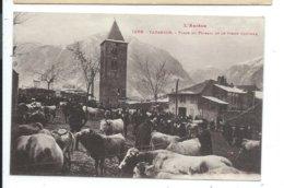 Tarascon ,place Du Foirail Et Le Vieux Clocher,marché - Francia