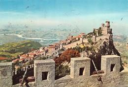 Cartolina Repubblica Di San Marino Mura E Panorama Bella Affrancatura 1961 - San Marino