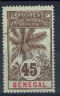 Senegal (French Colony), 45c., Palmtree 1906, VFU - Used Stamps