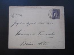 Portugal 1914 Ganzsachen Umschlag Gesendet Nach Trancoso Mit Ak Stempel - 1910-... République