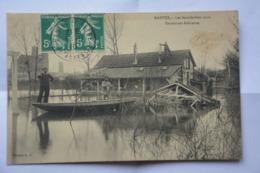 MANTES-inondations 1910-restaurant Robinson- MAUVAIS ETAT(decollement ) - Mantes La Ville