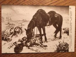 """Cpa, SALON Des Artistes Français De 1914, M. DUBOIS """"LA MORT DU TROMPETTE"""" éd A.Noyer, écrite - Malerei & Gemälde"""
