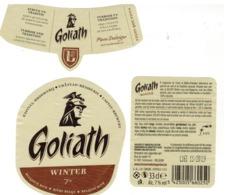 Etiquette Bière Goliath Winter 7° 33 Cl Chateau-Brasserie Des Géants Kasteel-Brouwerij Irchonwelz Etiket Beer Label - Beer