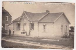 27152 THARON PLage -carte Photo -école -R Egit (TIGE ? ) Et Janmary -! Mauvais état ! Train Rail - Tharon-Plage