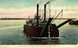 BOAT LOADING COTTON ON MISSISSIPPI RIVER NEW ORLEANS USA - Otros