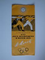 Programme Des  V èmes Jeux Olympiques D'Hiver 1948 à St-Moritz (Suisse) - Sonstige