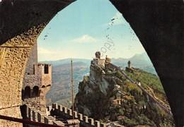Cartolina Repubblica Di San Marino Le Torri 1961 - San Marino