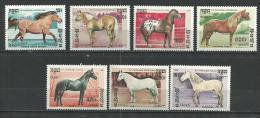 """Kampuchéa YT 611 à 617 """" Chevaux """" 1986 Neuf** - Kampuchea"""