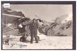 AVION DU PILOTE HERMANN GEIGER SUR LE GLACIER DE LA KANDER - SIGNATURE AUTOGRAPHE - TB - BE Berne