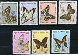 "Kampuchéa YT 632 à 638 "" Papillons "" 1986 Neuf** - Kampuchea"