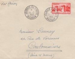 Enveloppe Cachet Journée Du Timbre Mazagan 24 Mai 1955 - Timbre En Rapport - Maroc (1956-...)