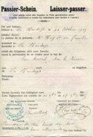Ardennes. LA HARDOYE. 1915. PASSIER-SCHEIN (Laisser-Passer) - 1914-18