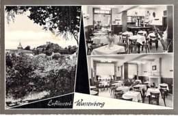 DEUTSCHLAND Allemagne Heinsberg BURGHOF STEIN Multivues LUFLKURORF WASSEMBERG Restaurant - CPSM Dentelée N/B Format CPA - Heinsberg