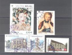 """France Oblitérés : N°5294 - 5301 - 5332 & Adhésif """"abbaye De Longuay"""" (cachet Rond) - Used Stamps"""