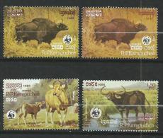 "Kampuchéa YT 695 à 698 "" Animaux Menacés "" 1986 Neuf** - Kampuchea"