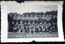 PHOTOGRAPHIE RUGBY P.S.TARUSATE DEMI FINALISTE1950/1951 TARTAS - Rugby