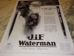 ANCIENNE PUBLICITE LE PERE NOEL A LA PAGE JIF WATERMAN 1929 - Zonder Classificatie