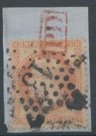 Lot N°51435 N°31/fragment, Oblit étoile Chiffrée 13 De PARIS (Hotel-de-Ville), Port Destinataire Rouge Dans Un Rectangle - 1863-1870 Napoléon III. Laure