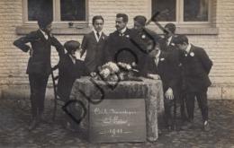 Fotokaart/Carte Toneelkring Cercle Damatique L'Essor - Somme-Leuze/Namen Geschreven In Péruwelz 1911 (O927) - Belgique