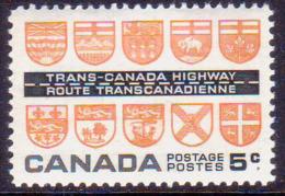 1962 CANADA SG #526 5c MNH Trans-Canada Highway - Neufs