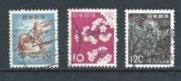 JAPON 1961+1972 (O) USADOS MI-643+758+1147 YT-566+677+1059 VARIOS - 1926-89 Emperor Hirohito (Showa Era)
