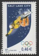 France Neuf Sans Charnière 2002 Sport Jeux Olympiques D'hiver De Salt Lake City Snowboard   YT 3460 - Neufs