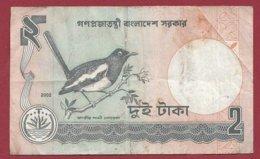 Bangladesh 2 Ruppes 2002   Dans L 'état (194) - Bangladesch