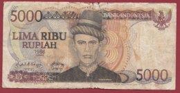 Indonésie 5000 Rupiah 1986 Dans L 'état (200) - Indonesië