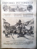 Emporio Pittoresco Del 17 Giugno 1877 Battaglia Di Grahovaz Locomotiva Stradale - Voor 1900